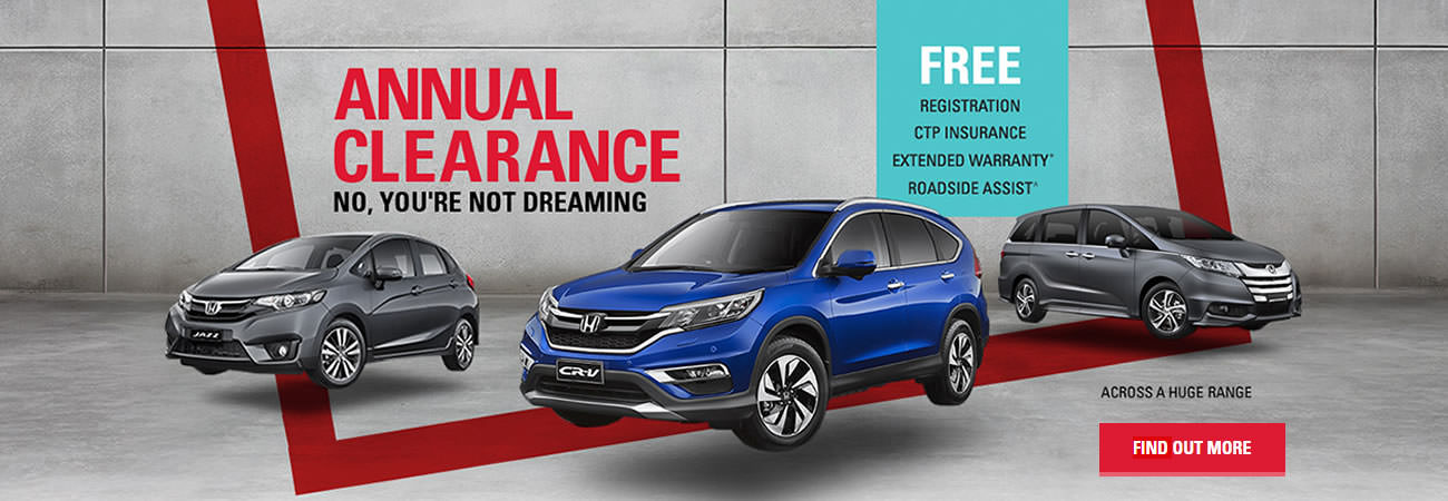 Honda Annual Clearance 2016